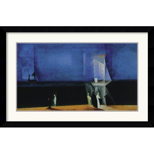 Amanti Art 'Marine-Blau' by Lyonel Feininger Framed Graphic Art