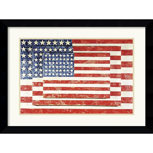 Amanti Art 'Three Flags' by Jasper Johns Framed Graphic Art