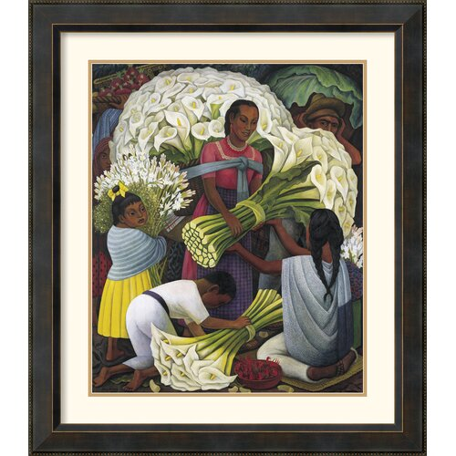 Amanti Art 'The Flower Vendor' by Diego Rivera Framed Painting Print