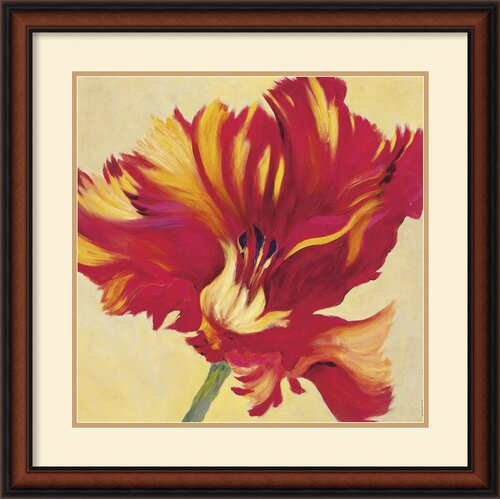 Amanti Art 'Tulipan Three' by Jennifer Hollack Framed Painting Print