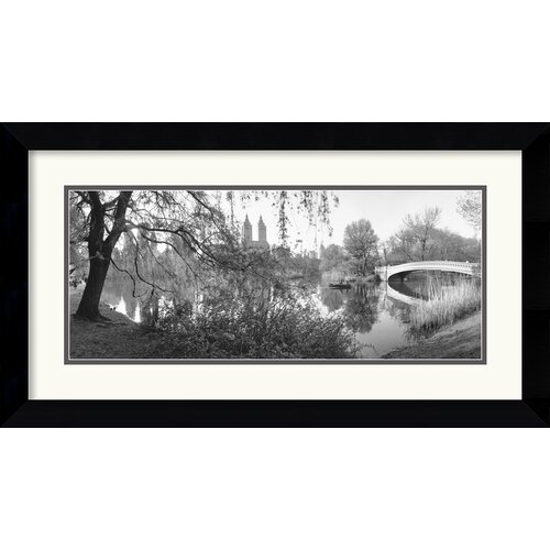 'The Lake and Bow Bridge, Central Park, 1992' by Bruce Davidson Framed Photographic Print