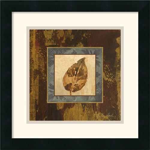 Amanti Art 'Autumn Leaf Square III' by Silvia Vassileva Framed Painting Print