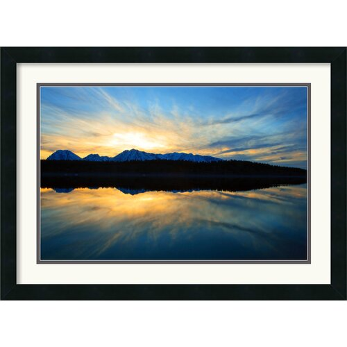 Amanti Art 'Sunset on Jackson Lake' by Andy Magee Framed Photographic Print