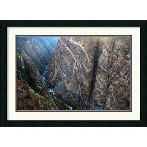 'Black Canyon Painted Wall' by Andy Magee Framed Photographic Print