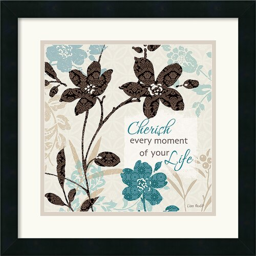 Amanti Art 'Botanical Touch Quote I' by Lisa Audit Framed Painting Print