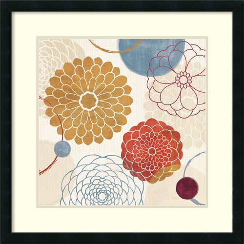 Amanti Art 'Abstract Bouquet II' by Veronique Charron Framed Graphic Art