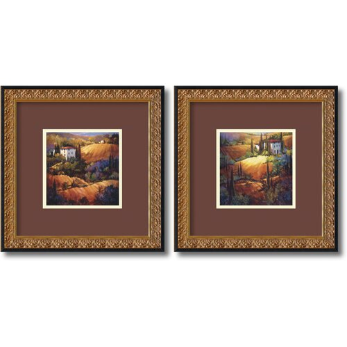 Amanti Art 'Tuscany' by Nancy O'Toole 2 Piece Framed Painting Print Set