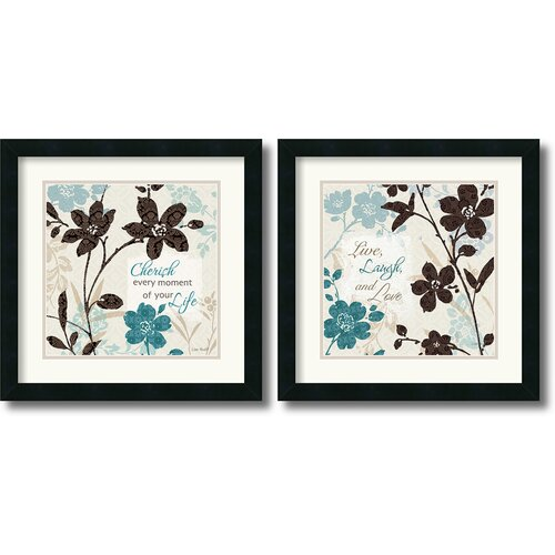 Amanti Art 'Botanical Touch Quote' by Lisa Audit 2 Piece Framed Graphic Art Set