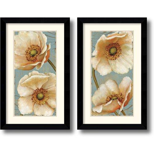 Amanti Art 'Windflower' by Daphne Brissonnet 2 Piece Framed Painting Print Set
