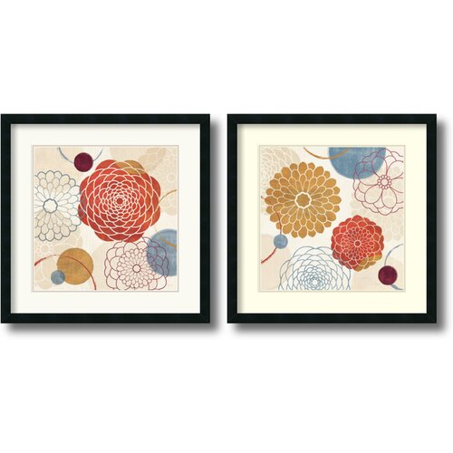 Amanti Art 'Abstract Bouquet' by Veronique Charron 2 Piece Framed Graphic Art Set