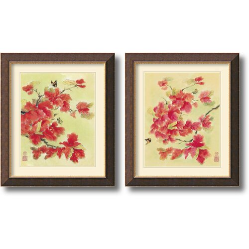 Amanti Art 'Autumn Leaves' by Suzanna Mah Fong 2 Piece Framed Painting Print Set