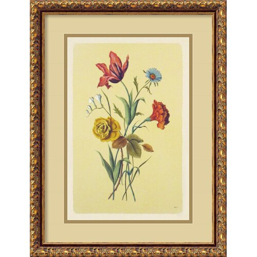 Botanical Bouquet I Framed Painting Print