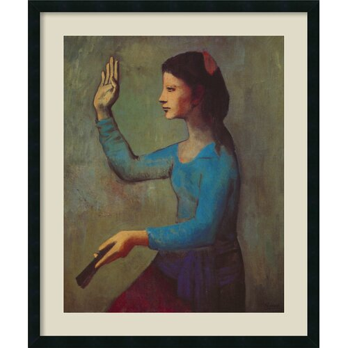 'Woman with a Fan, Paris, Autumn 1905' by Pablo Picasso Framed Painting Prints