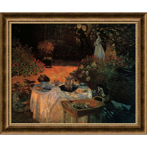 'Luncheon in the Garden' by Claude Monet Framed Painting Prints