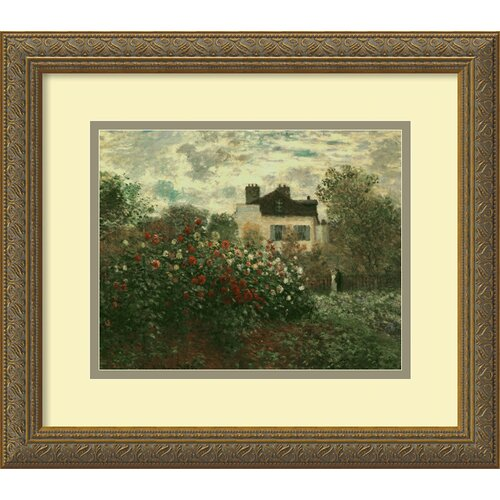 Amanti Art 'The Artist's Garden at Argenteuil' by Claude Monet Framed Painting Print
