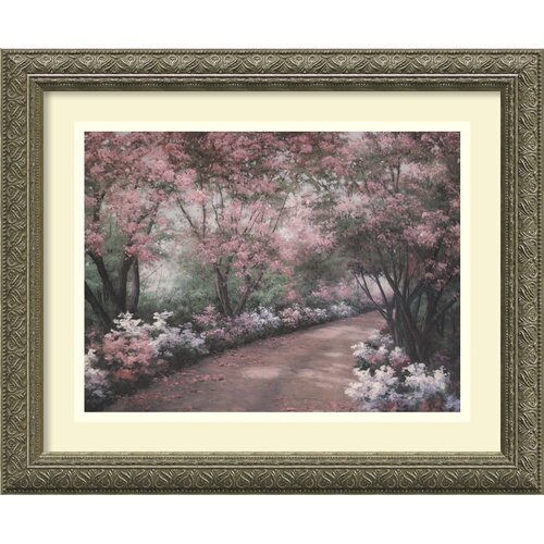 'Azalea Walk' by Diane Romanello Framed Painting Print