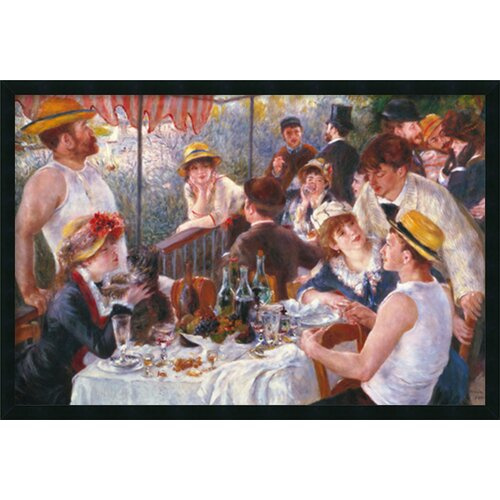 Amanti Art 'Luncheon of the Boating Party (Dejeuner Des Canotiers)' by Pierre Auguste Renoir Framed Painting Prints
