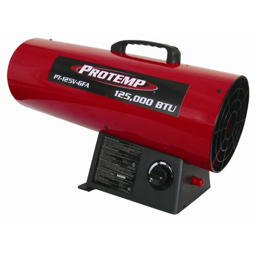 Pro-Temp 125,000 BTU Forced Air Utility Propane Space Heater with Variable Control