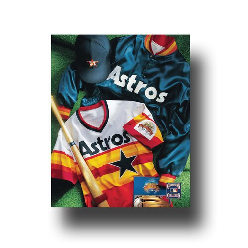 Artissimo Designs MLB Vintage Jersey Collage Photographic Print on Canvas