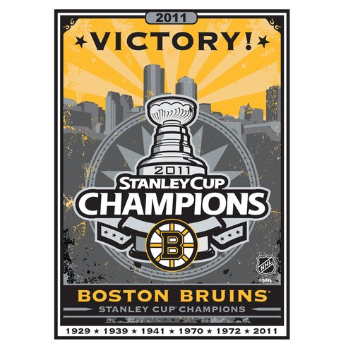 Artissimo Designs Boston Bruins 2011 Stanley Cup Champions Graphic Art on Canvas
