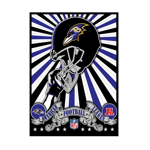 Artissimo Designs NFL Baltimore Ravens Graphic Art on Canvas