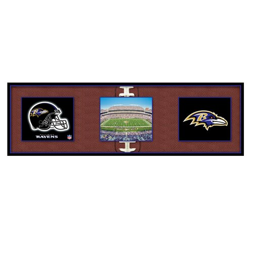Artissimo Designs NFL Baltimore Ravens Tripanel Graphic Art on Canvas