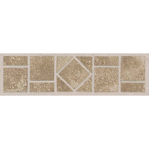"American Olean Ash Creek 12"" x 3"" Floor Border in Walnut"