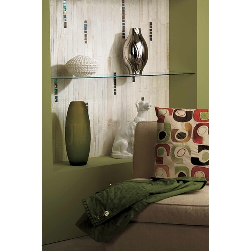 American Olean Costa Rei Random Sized Glazed Interlocking Decorative Accent Tile in Pietra Bianco