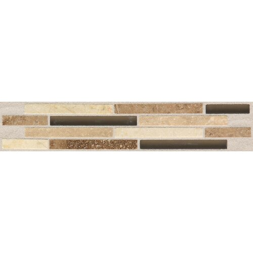 "American Olean Pozzalo 9"" x 2"" Universal Glazed Wall Accent Tile"