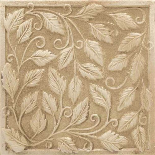 "American Olean Vallano 6"" x 6"" Glazed Wall Accent Tile in Macadamia"