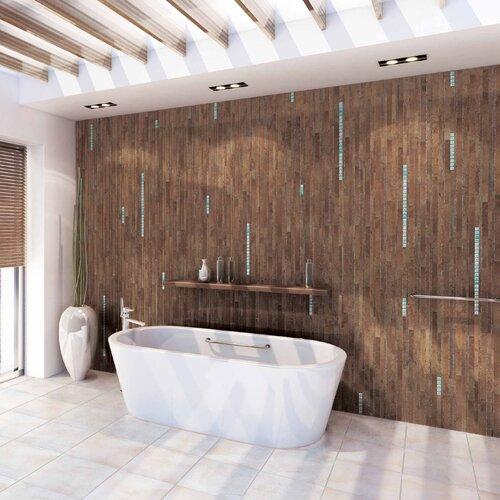 American Olean Costa Rei Random Sized Glazed Interlocking Decorative Accent Tile in Terra Marrone