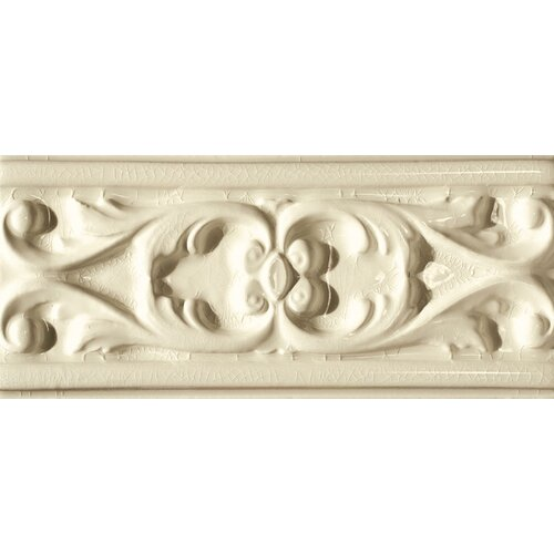 "Emser Tile Cape Cod 9"" x 4"" Seashore Accent Tile in Artisan Cream Crackle"