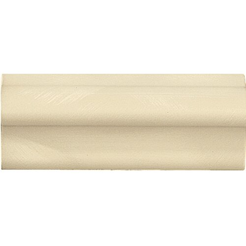 "Emser Tile Cape Cod 6"" x 2"" Chair Rail Tile Trim in Ivory Matte"