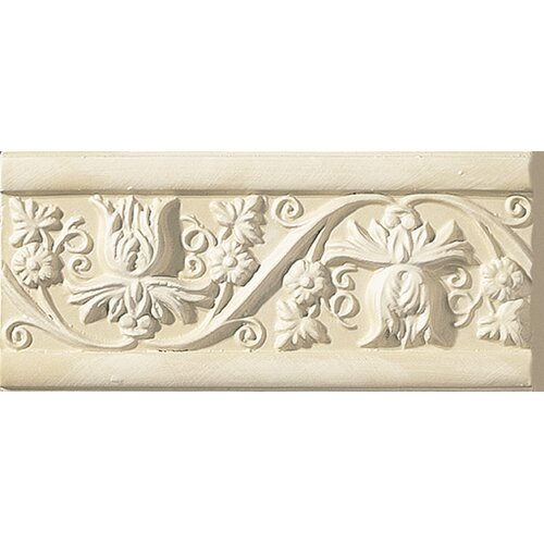 """Emser Tile Cape Cod 9"""" x 4"""" Meadow Stop Accent Tile in Ivory Matte"""