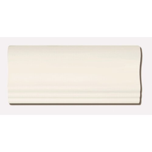 "Emser Tile Classica 9"" x 4"" Crown Tile Trim in Cream"
