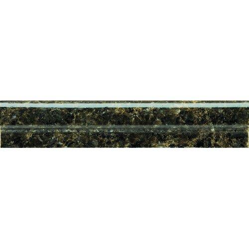 """Emser Tile Natural Stone 12"""" x 2"""" Granite OG in Ubatuba Green"""