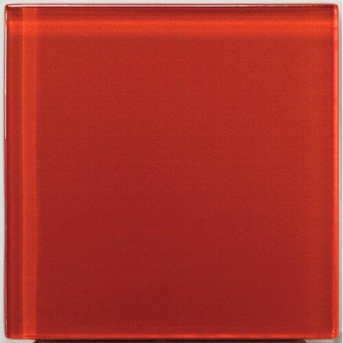 "Emser Tile Lucente 4"" x 4"" Glossy Glass Tile in Ruby"
