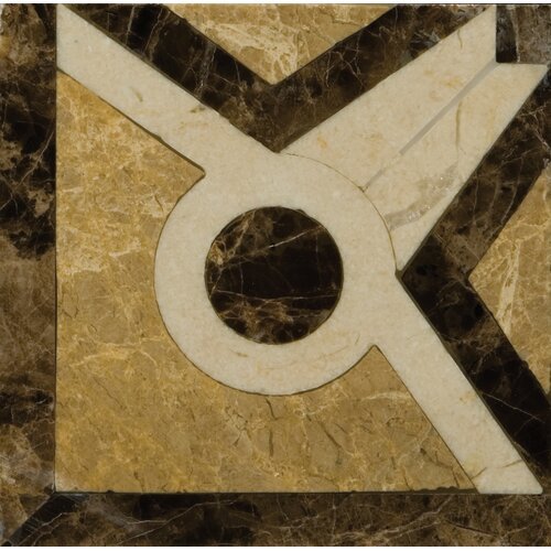 "Emser Tile Natural Stone 4"" x 4"" Honed Marble Vatican Listello Corner"