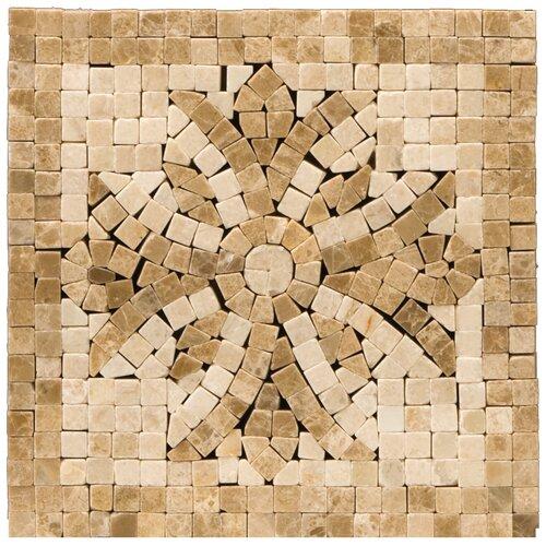 """Emser Tile Natural Stone 4"""" x 4"""" Honed Marble Teatro Listello Corner"""