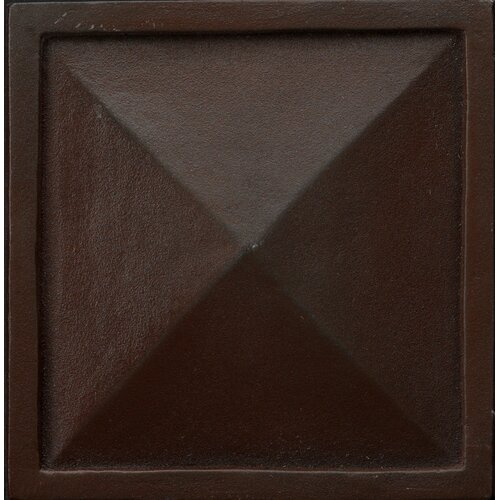 "Emser Tile Renaissance 4"" x 4"" Capri Accent Tile in Rust Iron"