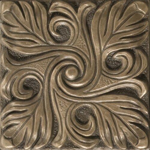 """Emser Tile Renaissance 4"""" x 4"""" Bari Accent Tile in Antique Bronze"""
