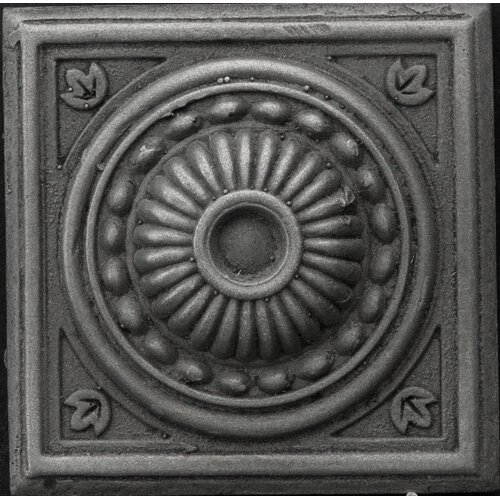 "Emser Tile Renaissance 4"" x 4"" Pompei Accent Tile in Antique Nickel"