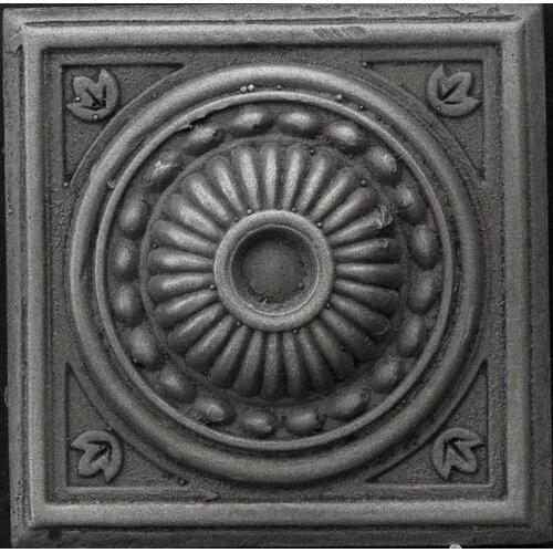 "Emser Tile Renaissance 2"" x 2"" Pompei Insert Tile in Antique Nickel"