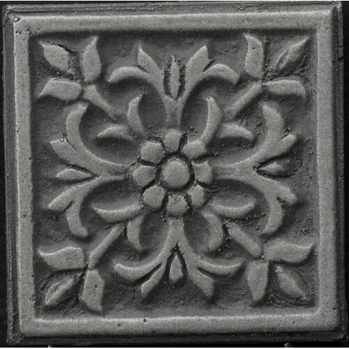 "Emser Tile Renaissance 2"" x 2"" Roma Insert Tile in Antique Nickel"