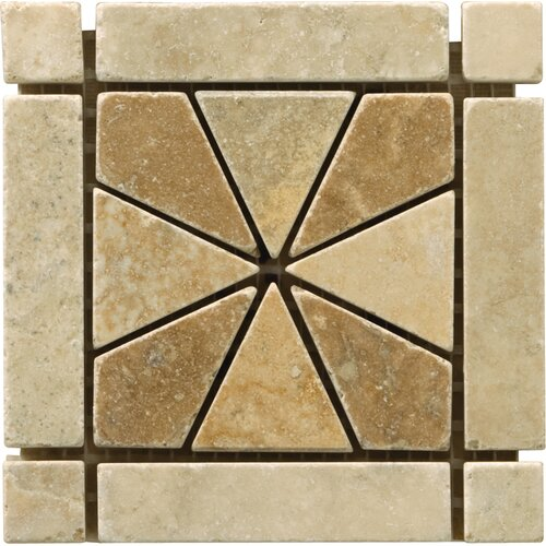 "Emser Tile Natural Stone 4"" x 4"" Dolcetto Travertine Listello Corner"