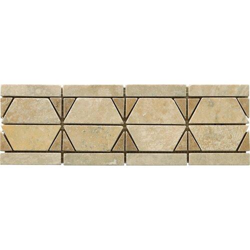 "Emser Tile Natural Stone 12"" x 4"" Dolcetto Travertine Listello"