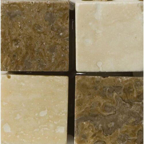 """Emser Tile Natural Stone 2"""" x 2"""" Verdi Travertine Listello Corner"""