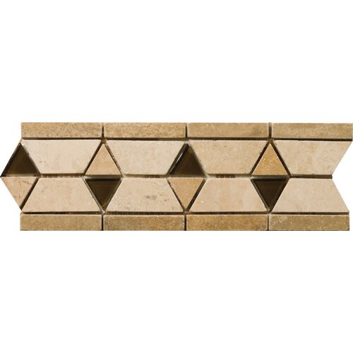"Emser Tile Natural Stone 12"" x 4"" Mietres Travertine Listello"