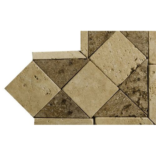 "Emser Tile Natural Stone 4"" x 4"" Classic Lt Travertine Listello Corner"