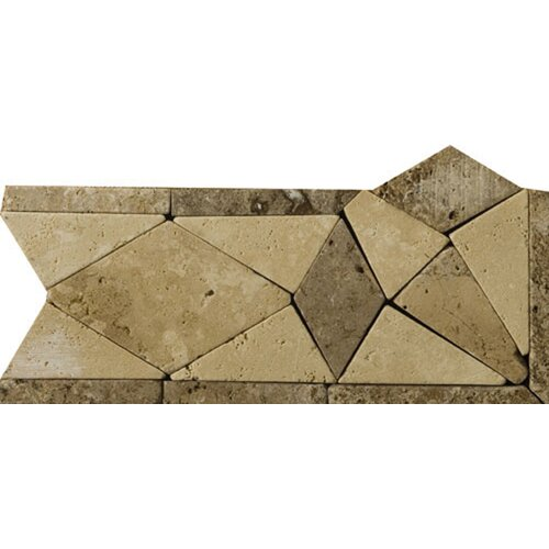 "Emser Tile Natural Stone 4"" x 4"" Malabar Travertine Listello Corner"